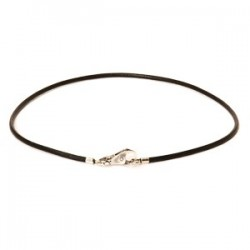 Leder Halsband, schwarz
